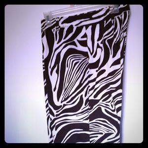 Zebra pattern ankle pants